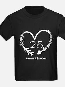 Custom Anniversary Doodle Heart T