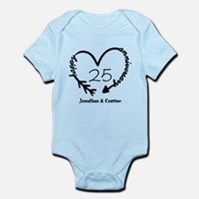 Custom Anniversary Doodle Heart Infant Bodysuit