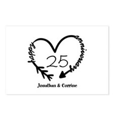 Custom Anniversary Doodle Postcards (Package of 8)