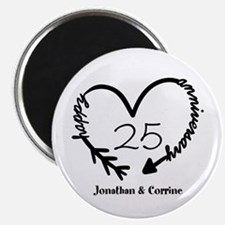 "Custom Anniversary Doodle H 2.25"" Magnet (10 pack)"