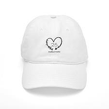 Custom Anniversary Doodle Heart Baseball Cap