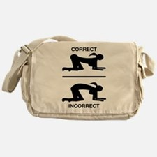 Correct Your Position, Adult Humor Messenger Bag