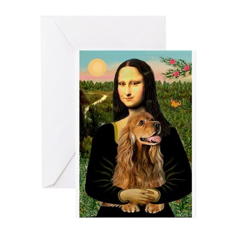 Mona's Brown Cocker (#7) Greeting Cards (Pk of 20)