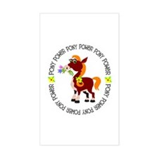 Pony Power Rectangle Decal