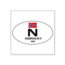 "Cute Norway flag Square Sticker 3"" x 3"""