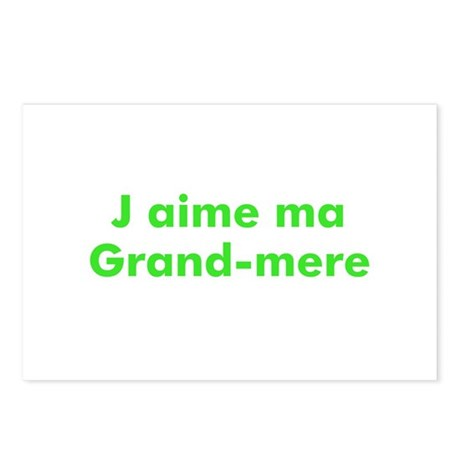 J aime ma Grand-mere Postcards (Package of 8)