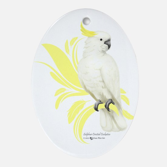 Sulphur Crested Cockatoo Oval Ornament