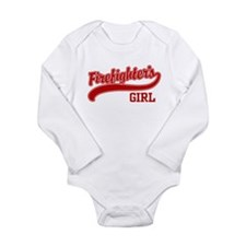Unique Firemans girlfriend Long Sleeve Infant Bodysuit