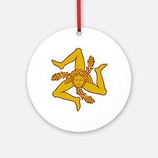 sicily Sicilia Sicile Round Ornament