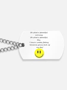 Smiley face emoticon Dog Tags