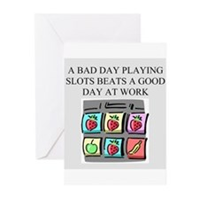 slot machine t-shirts gifts Greeting Cards (Pk of