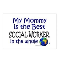 Best Social Worker In The World (Mommy) Postcards