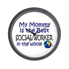 Best Social Worker In The World (Mommy) Wall Clock