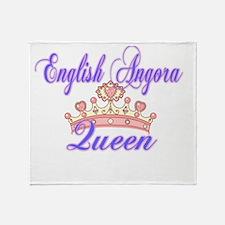 Enlgish Angora Queen Throw Blanket