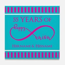 Personalized Anniversary Infinite Hap Tile Coaster