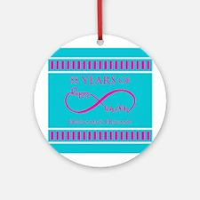Personalized Anniversary Infinite H Round Ornament