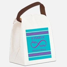 Personalized Anniversary Infinite Canvas Lunch Bag