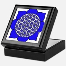 Lotus Blue9 Keepsake Box