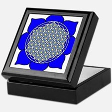 Lotus Blue4 Keepsake Box