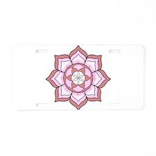 Lotus Rose Aluminum License Plate