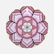 Lotus Rose Round Ornament