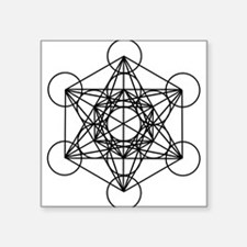 "Metatron Cube Square Sticker 3"" x 3"""