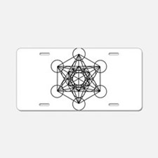 Metatron Cube Aluminum License Plate