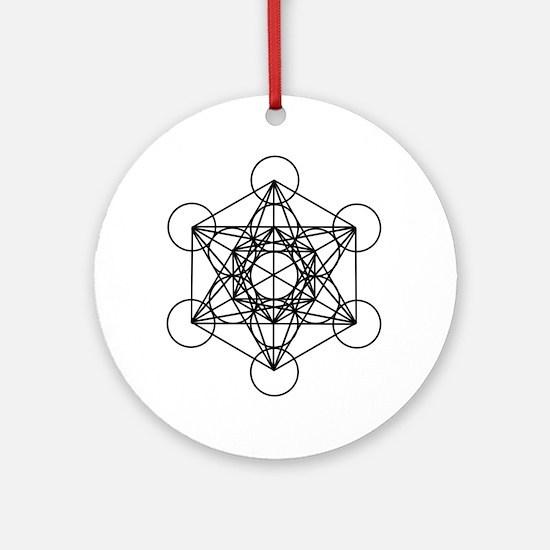 Metatron Cube Round Ornament