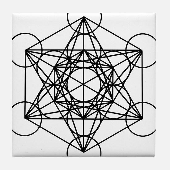 Metatron Cube Tile Coaster