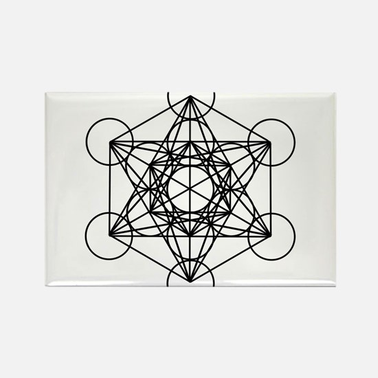 Metatron Cube Rectangle Magnet