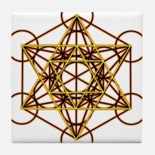 MetatronOrStar Tile Coaster