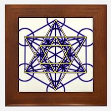 MetatronBlueStar Framed Tile