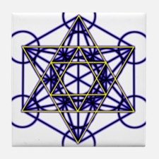 MetatronBlueStar Tile Coaster