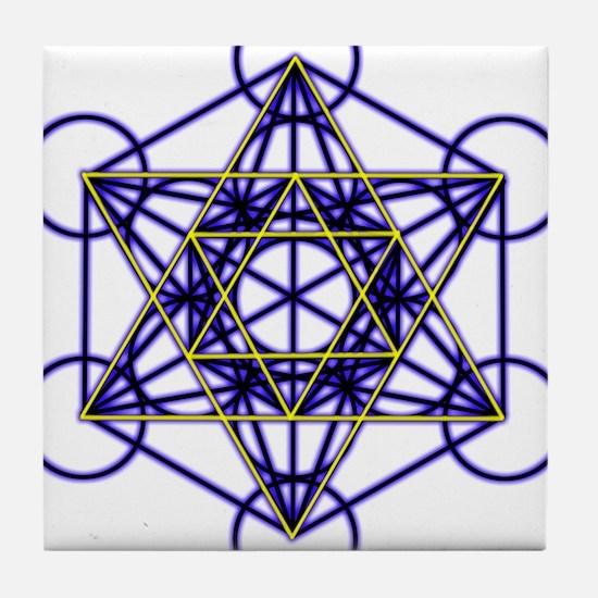 MetatronBlueStar Tile Coaster