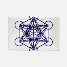 MetatronBlueStar Rectangle Magnet