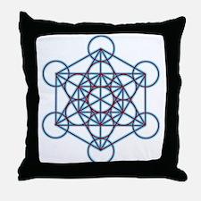 MetatronTGlow Throw Pillow