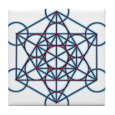 MetatronTGlow Tile Coaster