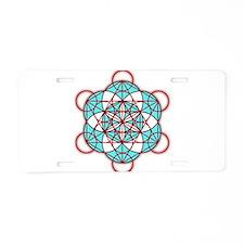MetatronRed Aluminum License Plate