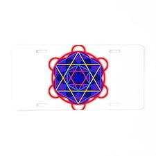 Metaron RedBllue Aluminum License Plate