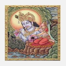 Vision of Krishna Tile Coaster
