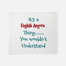 English Angora Thing Throw Blanket