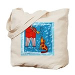 Trumpet Player Music Tote Bag