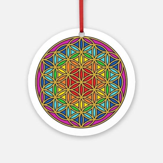 Chakra6 Round Ornament