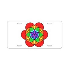 Seven Chakra Seed of Life Aluminum License Plate