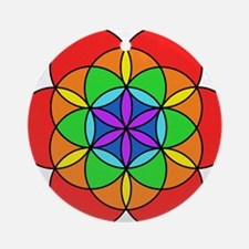 Seven Chakra Seed of Life Round Ornament
