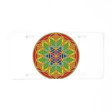 Flower of Life Chakra1 Aluminum License Plate