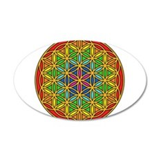 Flower of Life Chakra1 35x21 Oval Wall Decal