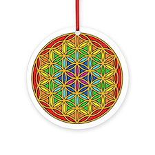 Flower of Life Chakra1 Round Ornament