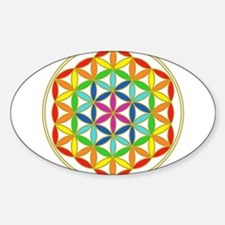 Flower of Life Chakra Sticker (Oval)