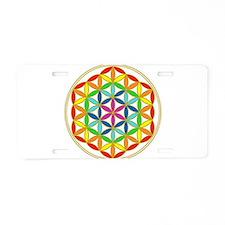Flower of Life Chakra Aluminum License Plate